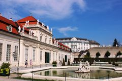 Lower Belvedere Palace,  fountain, Vienna, Austria Royalty Free Stock Photography