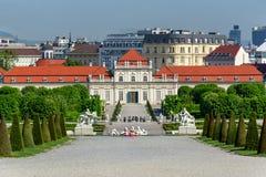 Lower Belvedere palace, Vienna, Austria stock image