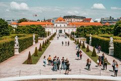 The Lower Belvedere Palace in Vienna, Austria royalty free stock photos
