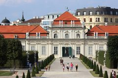 Lower Belvedere Palace, Vienna, Austria Royalty Free Stock Images