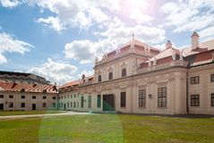 Lower Belvedere at Vienna, entrance, in midday sunshine royalty free stock image