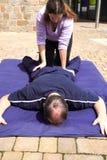 Lower body Thai massage royalty free stock photography