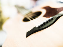 Lower bout of guitar Royalty Free Stock Photo