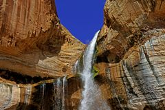 Lower Calf Creek Falls, the Escalante of Utah Stock Photo
