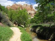 Lower Calf Creek Falls Trail Stock Photos
