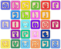 Lower case alphabet blocks Stock Image