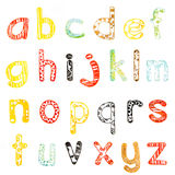 Lower case alphabet Royalty Free Stock Photos