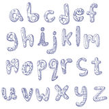 Lower Case Doodle Alphabet Royalty Free Stock Photography