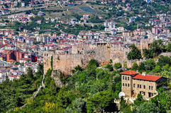 Lower castle - Ehmedek and Alanya city stock photos
