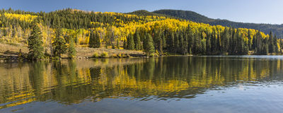 Lower Catacract Lake Autumn Panorama Royalty Free Stock Photos