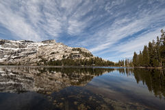 Lower Cathedral Lake Reflection, Yosemite Stock Photography