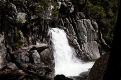 Lower Chilnualna Trail Falls Yosemite Park California Stock Photo