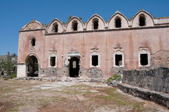 Lower church of ghost town of Kayakoy, Turkey Royalty Free Stock Image
