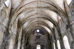 Lower church of ghost town of Kayakoy, Turkey Stock Images