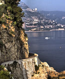 Lower Corniche Road on Cote d'Azur Stock Photo