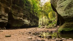 The Lower Dells, Matthiessen state park. Stock Image