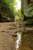 The Lower Dells, Matthiessen state park. Royalty Free Stock Images