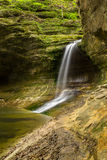 The Lower Dells. The waterfall in the Lower Dells, Matthiessen, Illinois Stock Image