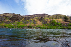 Lower Deschutes River Oregon. Nature scenic from the Lower Deschutes River wild and scenic canyon section on the water royalty free stock image