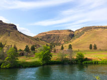Lower Deschutes River Oregon. Nature scenic from the Lower Deschutes River wild and scenic canyon section on the water royalty free stock photography