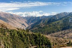 Lower Dolpo - landscape scenery around Dunai Royalty Free Stock Image