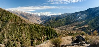 Lower Dolpo - landscape scenery around Dunai Stock Photography