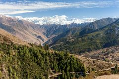 Lower Dolpo - landscape scenery around Dunai Royalty Free Stock Photos