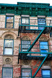 Lower East Side Building. A building on the Lower East Side in New York City with judaic symbols Stock Photos
