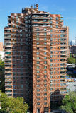 Lower East Side Cityscape. Public housing Skyline of Lower East Side New York City Stock Photo
