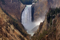 Lower Fall. At the Yellowstone Nationalpark Stock Images