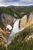 Lower fall in yellowstone national park Royalty Free Stock Image