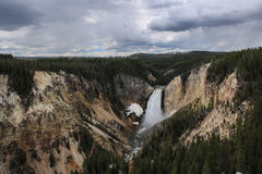Lower fall in yellowstone national park Royalty Free Stock Photo