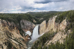 Lower fall in yellowstone national park Stock Photos