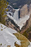 Lower falls. At Artist's point in Yellowstone National Park Stock Photos