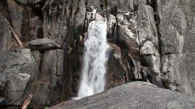 Lower Falls On Chilnualna Trail Yosemite California stock footage