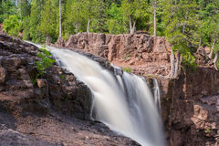 Lower Falls at Gooseberry Falls State Park. This is the Lower Falls at Gooseberry Falls State Park. This is in the Lake Superior North Shore area in Minnesota Stock Photos