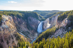 Lower Falls of the Grand Canyon of the Yellowstone National Park Stock Photos