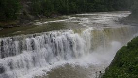 Lower Falls. Letchworth State Park, New York stock video