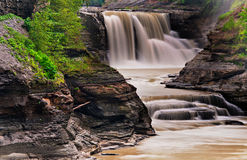 Lower Falls, at Letchworth State Park, NY Stock Photos