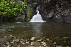 Lower Falls At Minekill. Minekill Falls in New York stock image