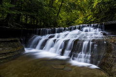 Lower Falls at Stony Creek State Park - Waterfall and Fall / Autumn Colors - New York Stock Photos