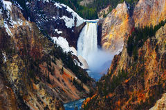 Lower Falls of the Yellowstone Royalty Free Stock Photo