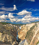 The Lower Falls in the Yellowstone Stock Images