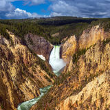 Lower Falls of the Yellowstone from Artist Point Royalty Free Stock Images