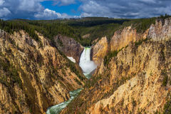 Lower Falls of the Yellowstone from Artist Point Royalty Free Stock Image