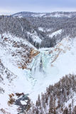 Lower falls of Yellowstone National Park Stock Photos
