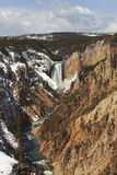 Lower Falls of the Yellowstone River Stock Photos