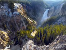 Lower Falls Yellowstone River, Wyoming, USA. Lower Falls on Yellowstone river crossing the canyon. Wyoming, USA royalty free stock images