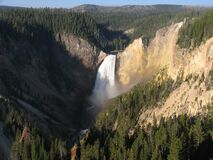 Lower Falls of the Yellowstone River, Yellowstone National Park, Wyoming Stock Photos