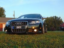Lower Frontal Audi SR4. Another frontal picture of the Audi SR4 at a lowered dimension royalty free stock photos